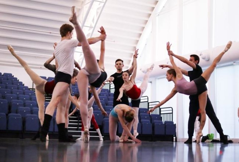 Photo -  Oklahoma City Ballet dancers rehearse April 8 at the Susan E. Brackett Dance Center. [Doug Hoke/The Oklahoman]