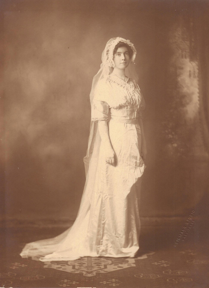 Photo - The 1900s introduced more flowing silhouettes. Some dresses though still had hints of the Victorian style, which was the case for Annie