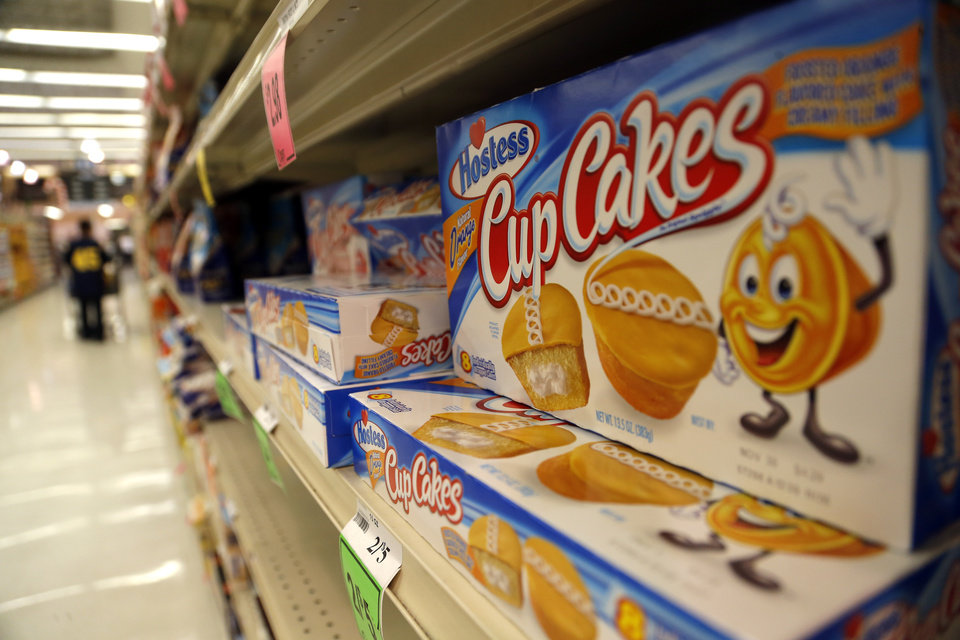 Hostess products sit on a shelf at Crest in Edmond, Okla.,  Friday, Nov. 16, 2012. Photo by Sarah Phipps, The Oklahoman