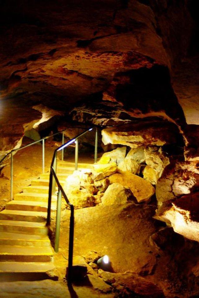 Photo - A tour of the Alabaster Caverns in the state park near Selman Ranch. PHOTO PROVIDED.