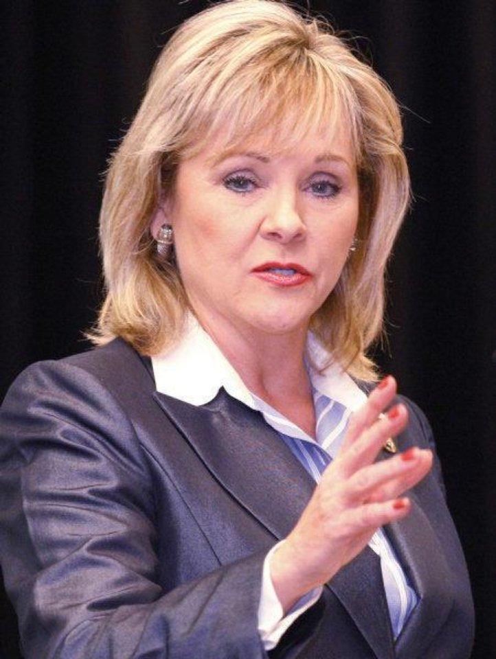 Mary Fallin <strong>SHERRY BROWN - TULSA WORLD</strong>
