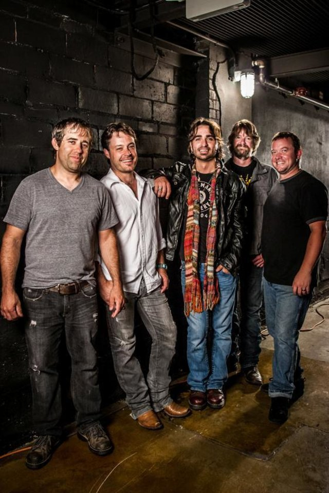 Oklahoma-Texas band Cody Canada & The Departed includes, from left, Chris Doege, Seth James, Cody Canada, Steve LIttleton and Jeremy Plato. Photo by Todd Purifoy      <strong></strong>