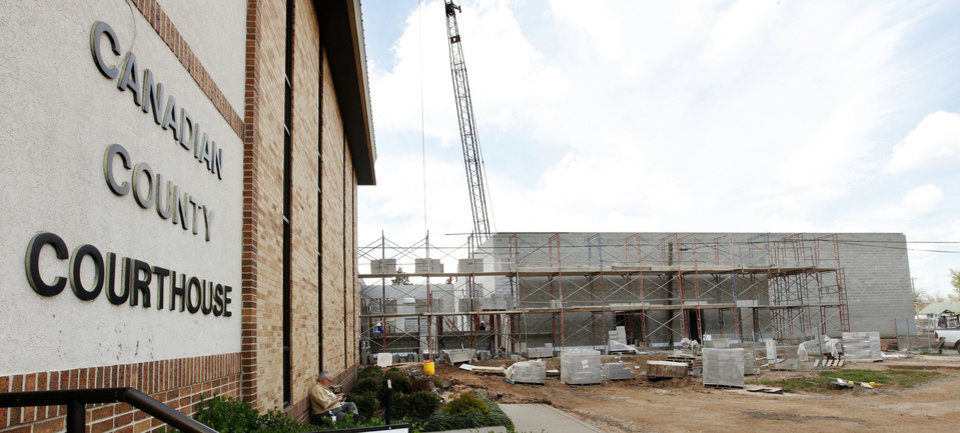 An addition to the Canadian County jail is under construction in El Reno.  Photo by Paul B. Southerland, The Oklahoman <strong>PAUL B. SOUTHERLAND</strong>