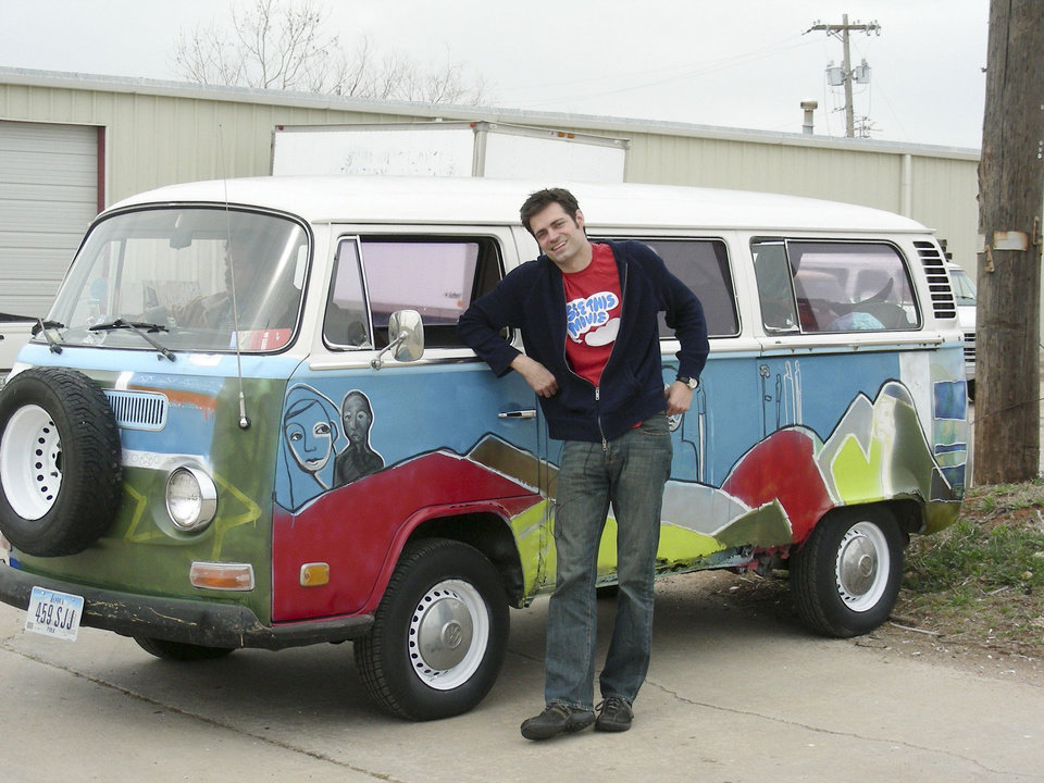 In 2007,  Dave Torstenson was photographed with his 1972 VW van that was painted in Oklahoma City. <strong>Greg Triebel - PROVIDED - Greg Triebel - PROVIDED</strong>