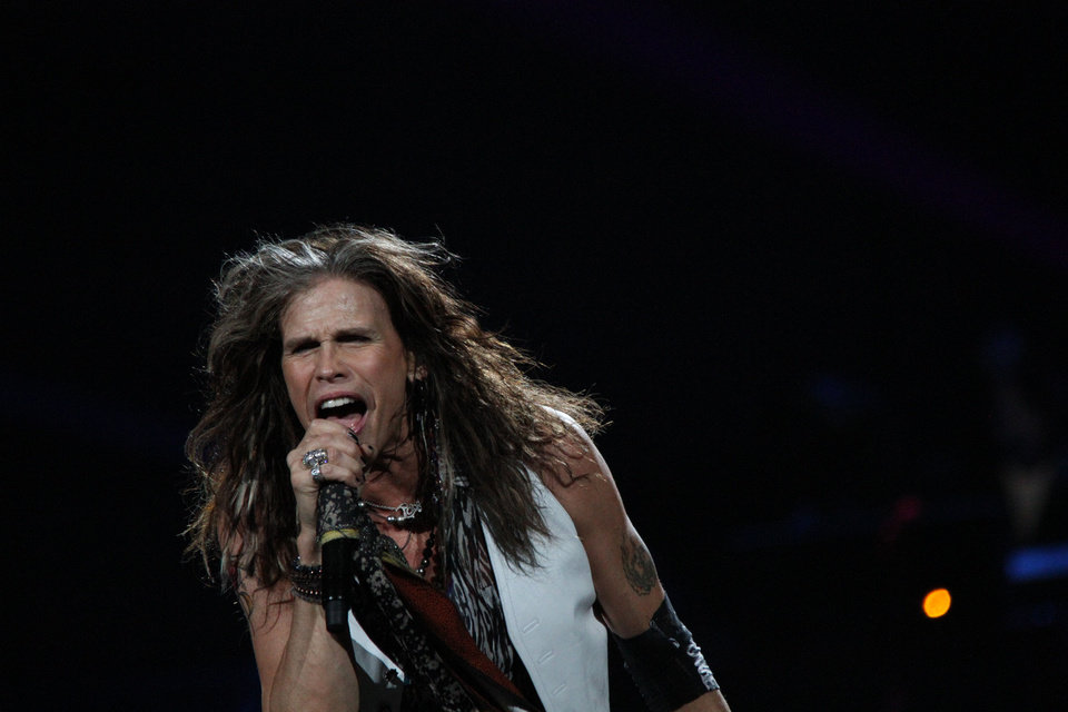 Photo - Steven Tyler and Aerosmith performed at Chesapeake Energy Arena Thursday night.  Vernon Gowdy III  - Special to The Oklahoman