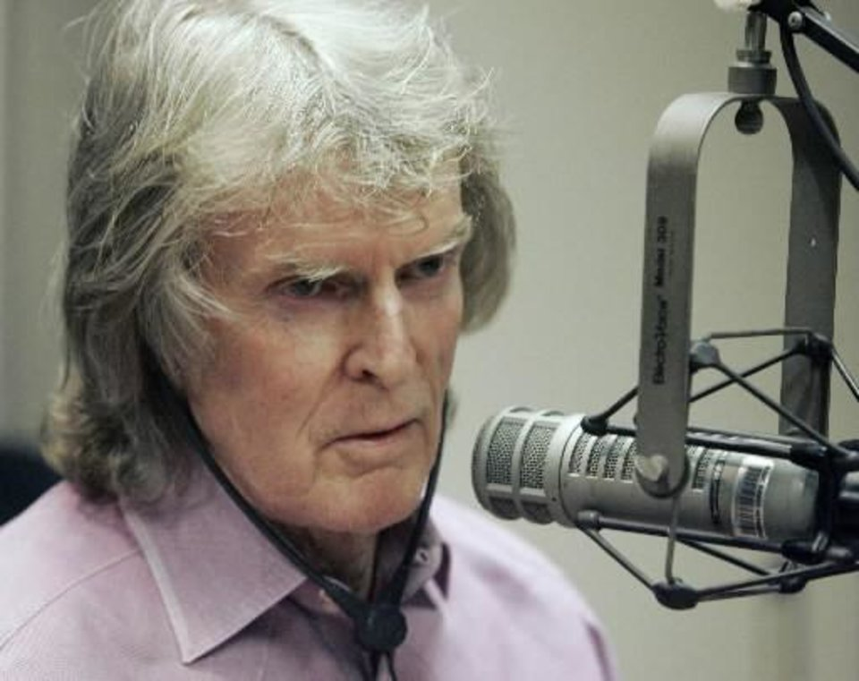 Radio personality Don Imus appears on the Rev. Al Sharpton\'s radio show, in New York, in this April 9, 2007, file photo. (AP Photo/Richard Drew/FILE)