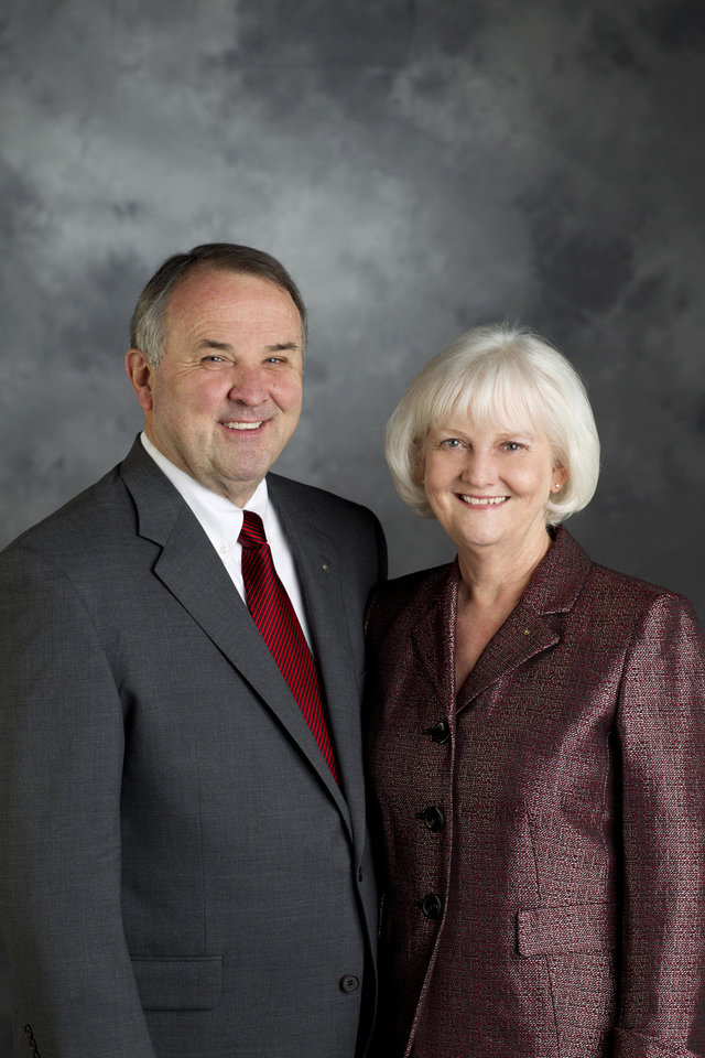 Photo - Ron D. Burton, 2013-14 RI President, and his wife, Jetta.