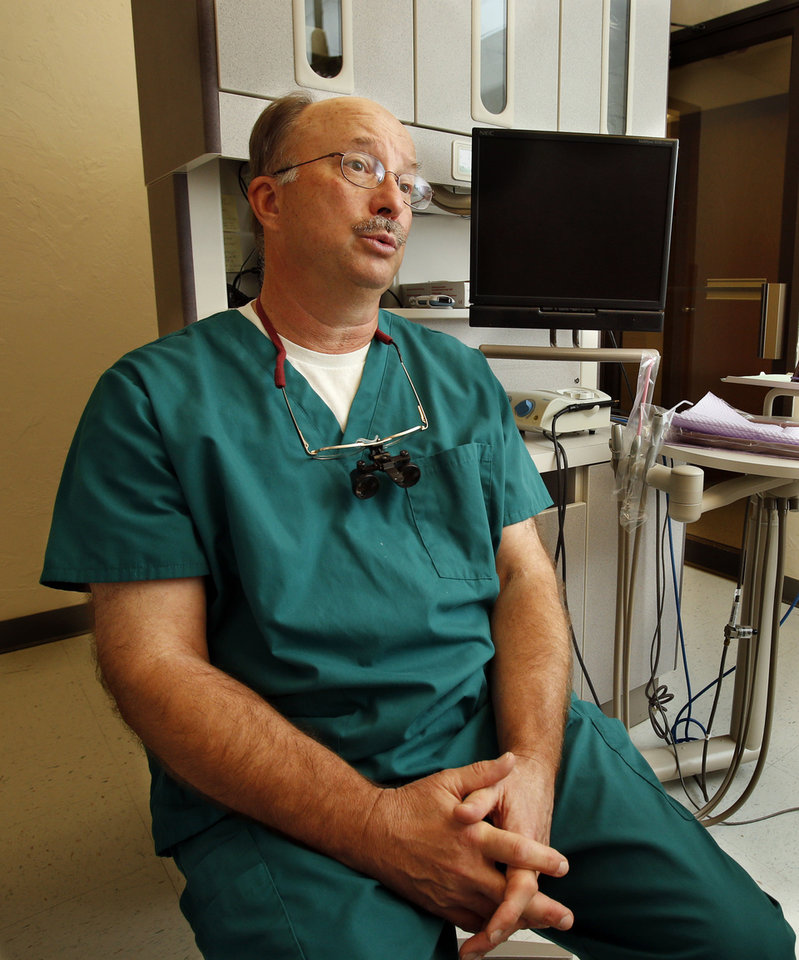 Dr. Craig Herwig, dental director at Variety Care, discusses a root canal procedure. A root canal is a preventable procedure when patients practice good dental hygiene. <strong>STEVE SISNEY - STEVE SISNEY</strong>