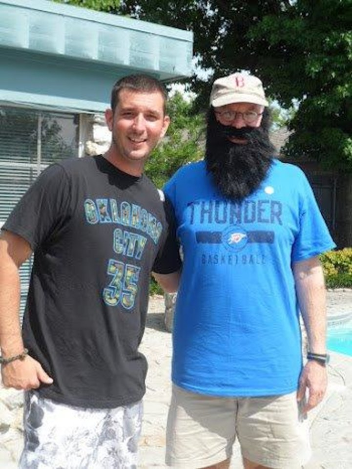 Justin Mantle and Ray Sears celebrate Father's Day and Thunder Up in S. OKC for Game 3.