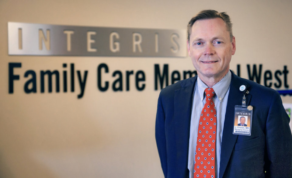 Photo -  Integris physician Dr. Jeffrey Cruzan, believes