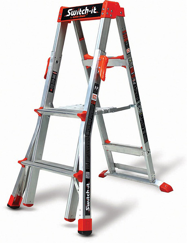 This image provided by the U.S. Consumer Product Safety Commission shows a stepladder and stepstool combination manufactured by Suzhou Zhongchuang Aluminum Products Co. Ltd. and imported by Wing Enterprises Inc., of Springville, Utah, that is being recalled because when extended, the inner side rails can separate from the outer side rails causing the user to fall. (AP Photo/U.S. Consumer Product Safety Commission)