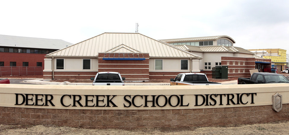 Construction was under way Friday at Deer Creek High School.  Photo By David McDaniel/The Oklahoman <strong>David McDaniel - The Oklahoman</strong>