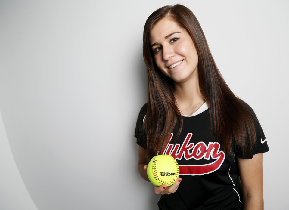 Madi Ellis, Yukon High School softball player and Big All-City Player of the Year, poses for a photo in Oklahoma City, Monday, Nov. 19, 2012. Photo by Nate Billings, The Oklahoman