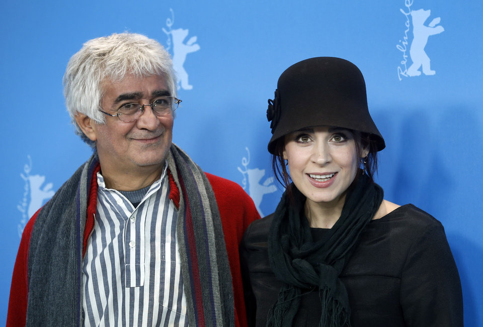 Photo - Co-director Kamboziya Partovi, left, and actress Maryam Moghadam, arrive for the the photo call of the film Closed Curtain at the 63rd edition of the Berlinale, International Film Festival in Berlin, Germany, Tuesday, Feb. 12, 2013. (AP Photo/Michael Sohn)
