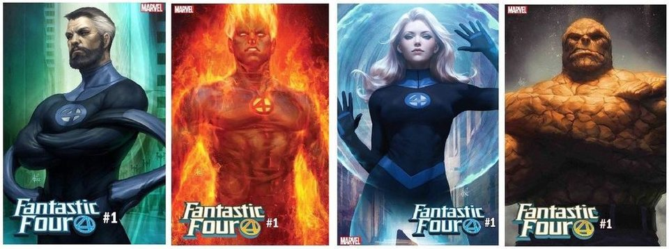 Photo - Fantastic Four #1 covers by Artgerm. [Marvel Entertainment]