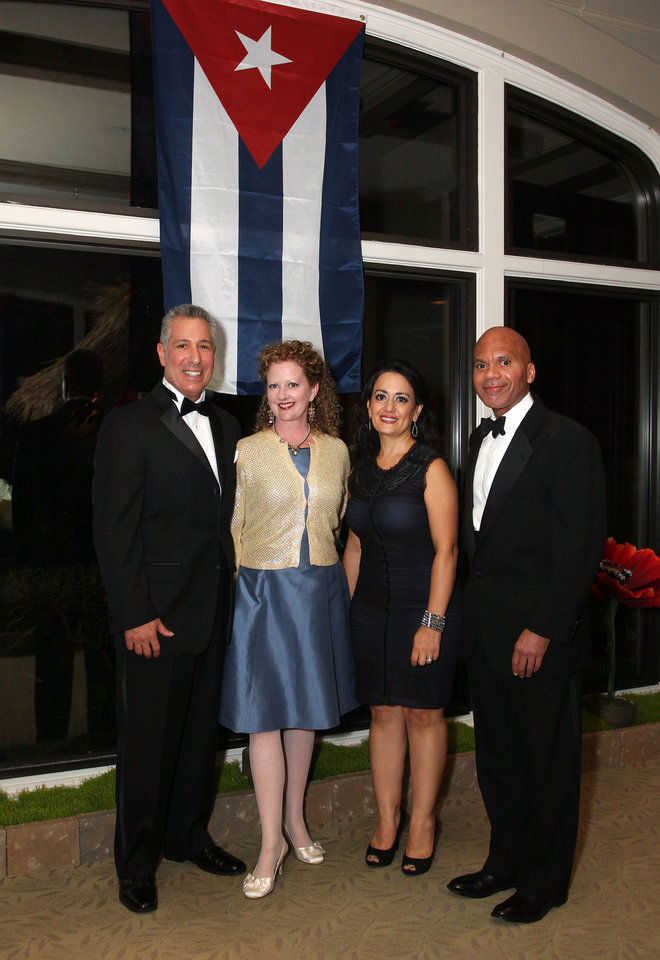 Photo -  Glen Gentele, Shannon Fitzgerald, Marjan Seirafi-Paur and Jerome Holmes were among the attendees.