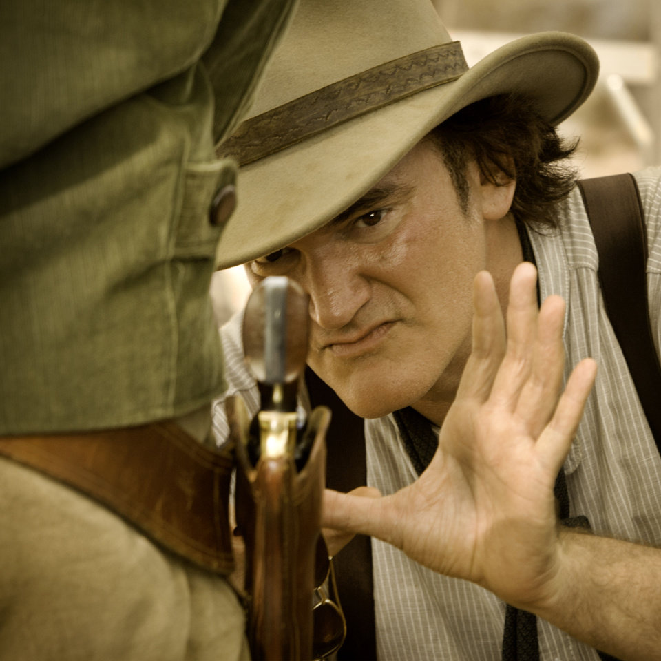 "Quentin Tarantino directs a scene on the set of ""Django Unchained."" WEINSTEIN COMPANY PHOTO"