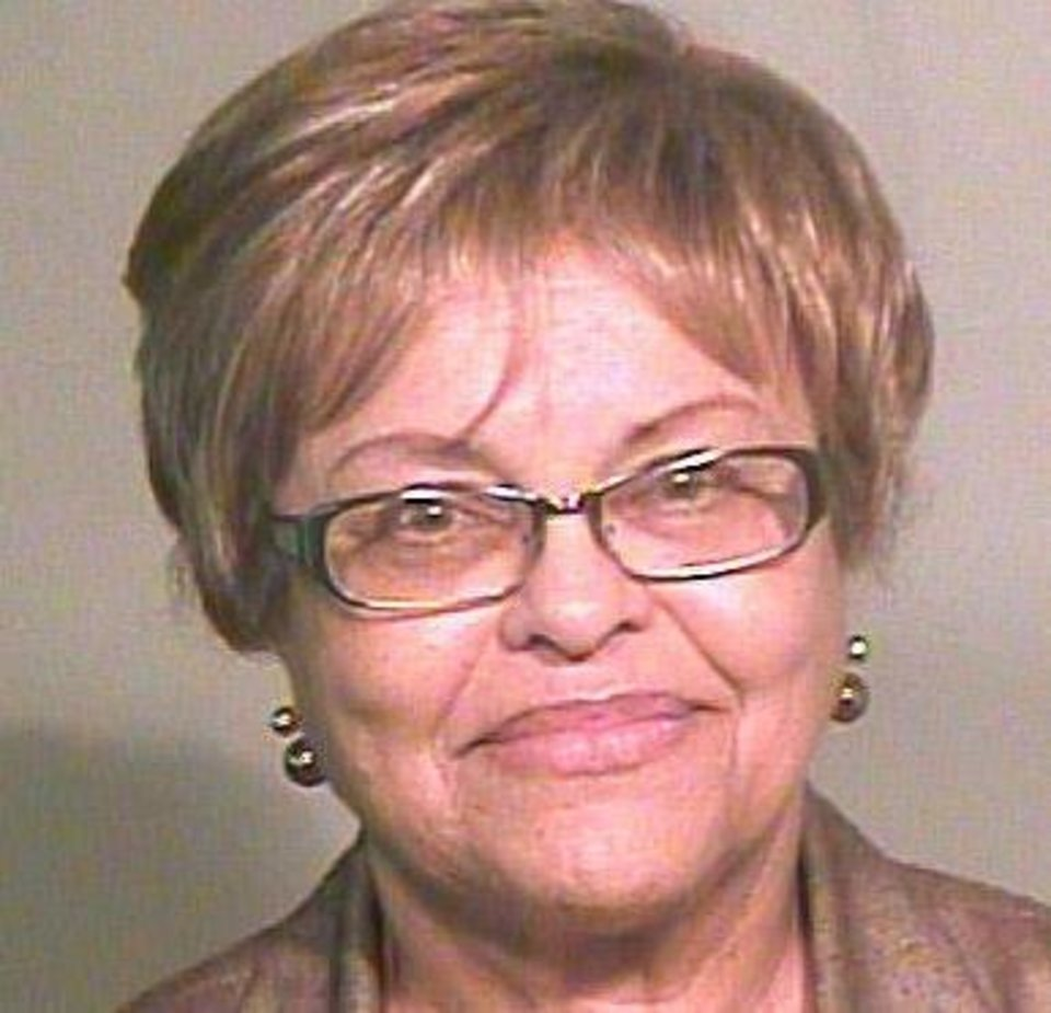 Lynnell Harkins, one of five Oklahoma Pardon and Parole Board members charged with misdemeanor violations of the state Open Meeting Act. <strong></strong>