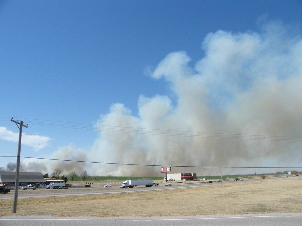 Photo - Fire south of Riverwind