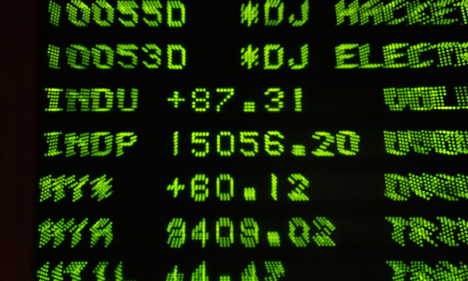 Photo - A board at the New York Stock Exchange Tuesday, May 7, 2013, shows the closing number for the Dow Jone industrial average. The DJIA  punched through another milestone Tuesday: its first close above 15,000. (AP Photo/Richard Drew)