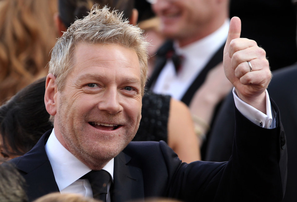 Kenneth Branagh arrives before the 84th Academy Awards on Sunday, Feb. 26, 2012, in the Hollywood section of Los Angeles. (AP Photo/Joel Ryan) ORG XMIT: OSC317
