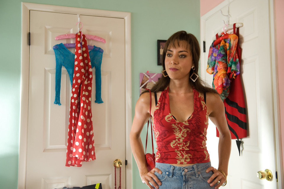 Photo - This film publicity image released by CBS Films shows Aubrey Plaza portraying Brandy Klark in a scene from