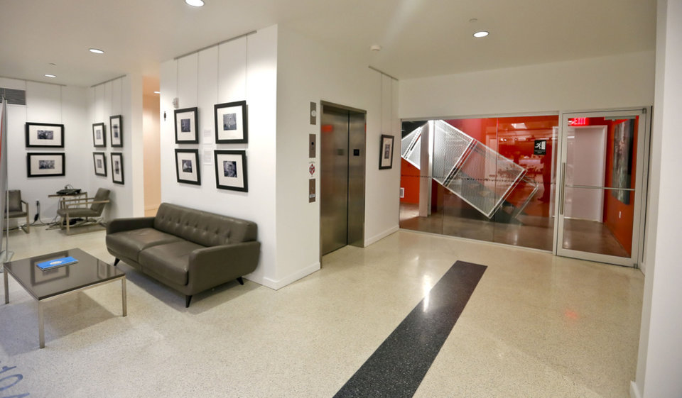 Photo - The renovated Hart Building on Film Row is now home to several tenants, including KOSU Radio.  CHRIS LANDSBERGER