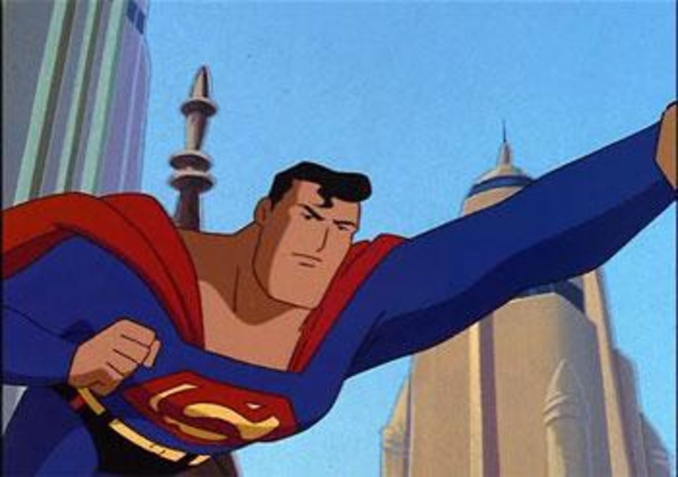 "Superman as seen in ""Superman: The Animated Series."""