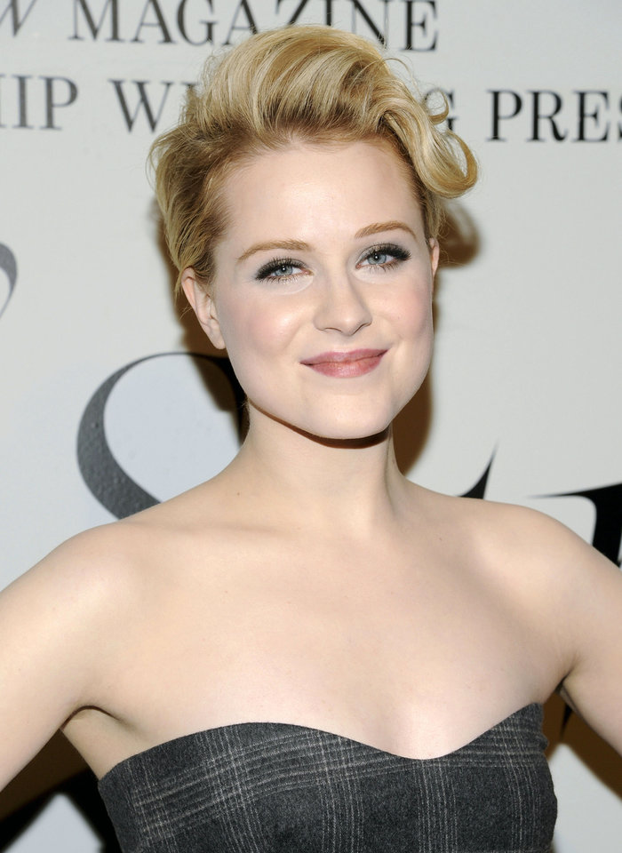 Photo - FILE - This Feb. 14, 2012 file photo shows actress Evan Rachel Wood at the unveiling of