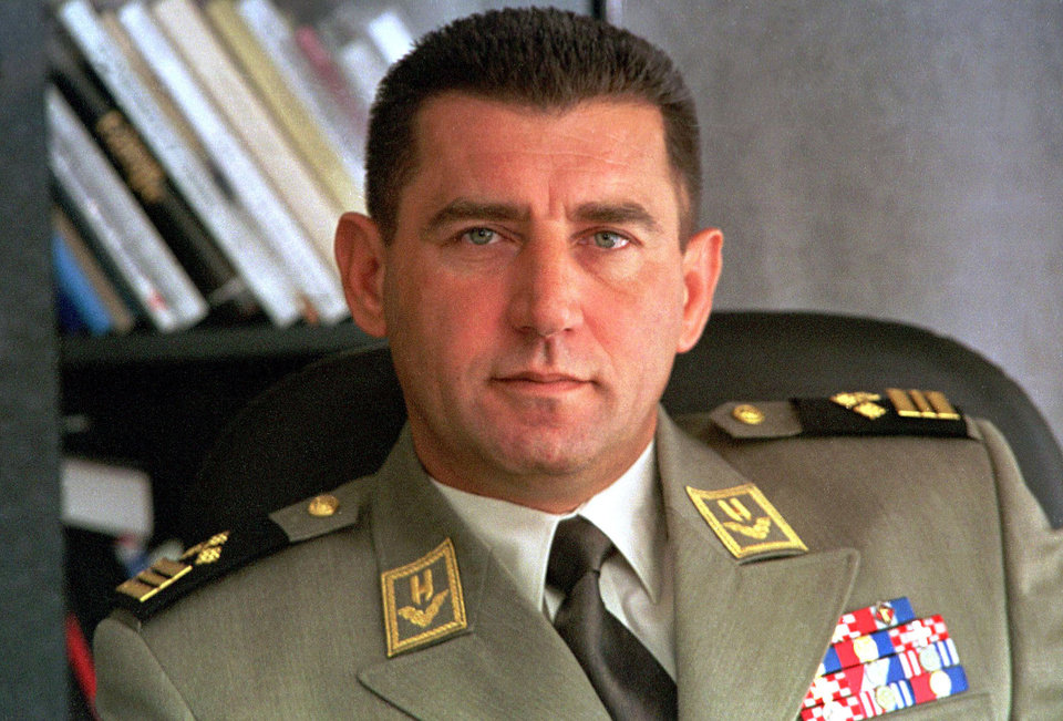 Photo -   In this undated photo, Gen. Ante Gotovina is seen in Zagreb, Croatia. The Yugoslav war crimes tribunal overturned the convictions of two Croat generals on Friday, Nov. 16, 2012 for murdering and illegally expelling Serb civilians in a 1995 military blitz, and ordered both men to be freed immediately. (AP Photo/HINA) CROATIA OUT