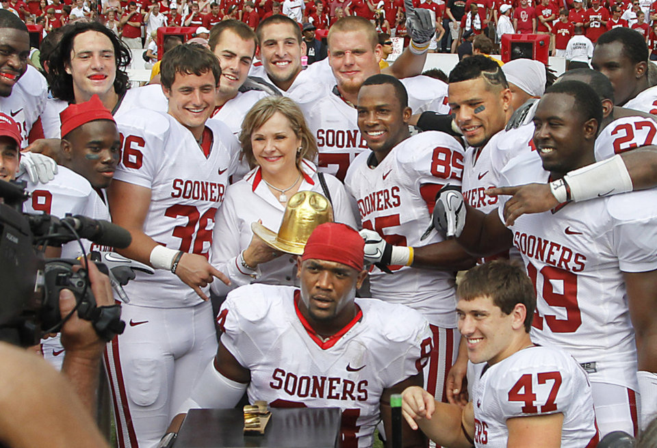 Gov. Mary Fallin�s trip to Dallas in October 2011 included attending the Cotton Bowl. The trip cost taxpayers about $5,800.   Photo by Chris Landsberger, The Oklahoman Archives