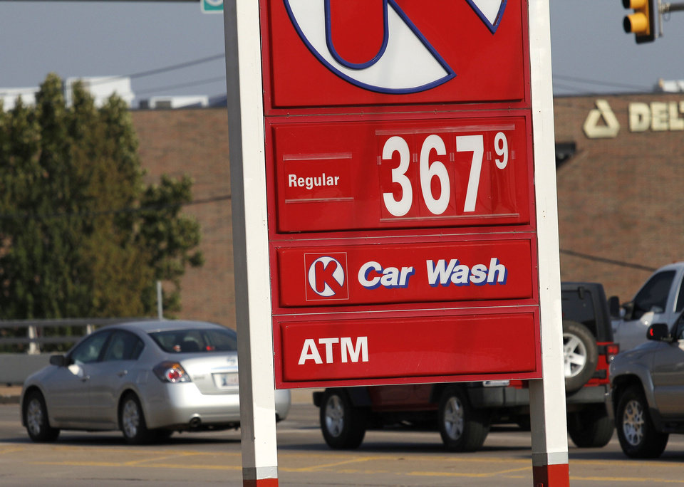 The Circle K at NW 63 and Broadway Extension has gasoline priced Tuesday at $3.67 a gallon