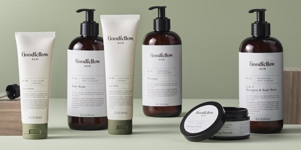 Photo - Goodfellow & Co's new line of men's grooming products at Target.