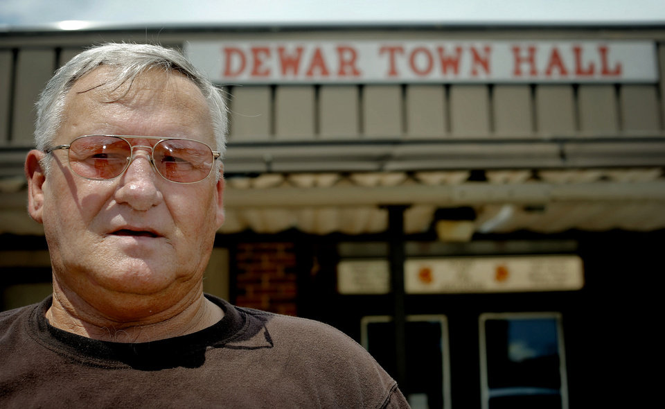 Photo - Dewar resident Buddy Thompson is fighting town officials  as he and other residents got a state audit through a petition.  Photo by Chris Landsberger, The Oklahoman