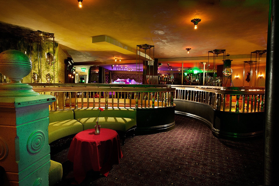 This image provided by The Act nightclub shows the interior of the club located at the Palazzo hotel-casino on the Las Vegas Strip. The Palazzo  wants to terminate their 10-year agreement with the nightclub after 10 months of operation. They say the shows at the venue inside the Palazzo are so raunchy they violate obscenity laws. (AP Photo/The Act Nightclub, Shane O�Neal)