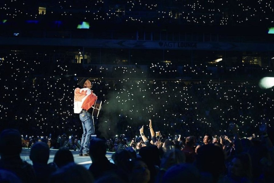 Photo - Country Music Hall of Famer and Oklahoma native Garth Brooks played two shows over the weekend in Regina, Saskatchewan, Canada, on