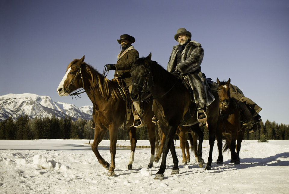 "Jamie Foxx as Django, left and Christoph Waltz as Dr. King Schultz in the film ""Django Unchained."" WEINSTEIN COMPANY PHOTO <strong></strong>"