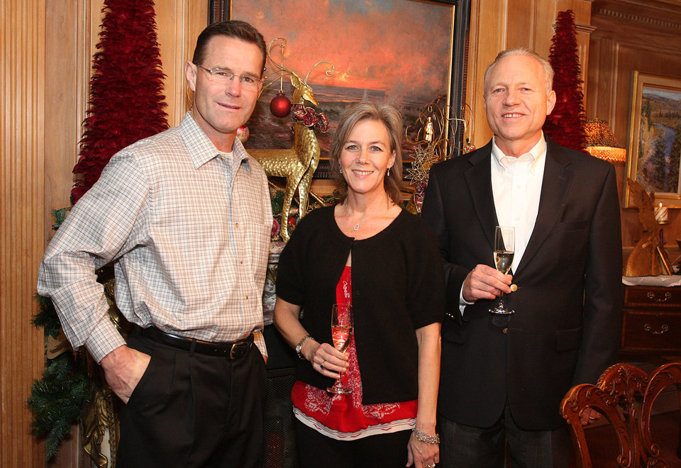 Joel LaPlante, Shawnna and Michael Berryman. Photo by David Faytinger for the Oklahoman <strong></strong>