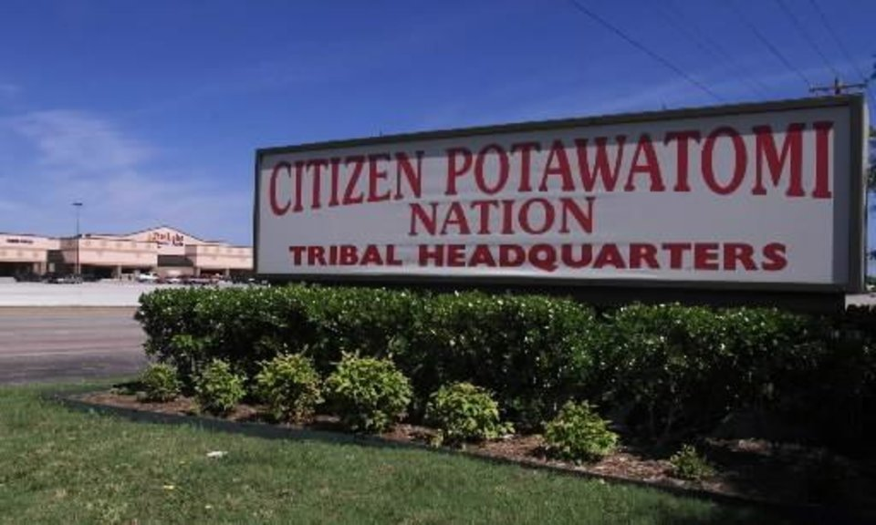 2001 file photo - Citizen  Potawatomie  Nation tribal headquarters in Shawnee. Staff Photo by Roger Klock