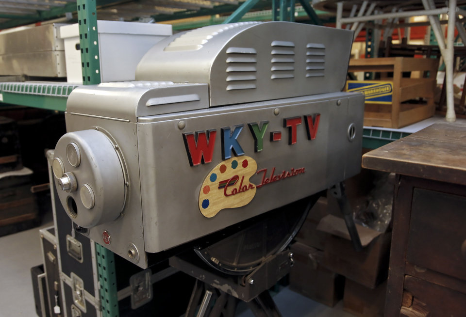 The first color television camera west of the Mississippi is seen Monday in the storage facility at the Oklahoma History Museum in Oklahoma City. Photo by Chris Landsberger, The Oklahoman <strong>CHRIS LANDSBERGER</strong>