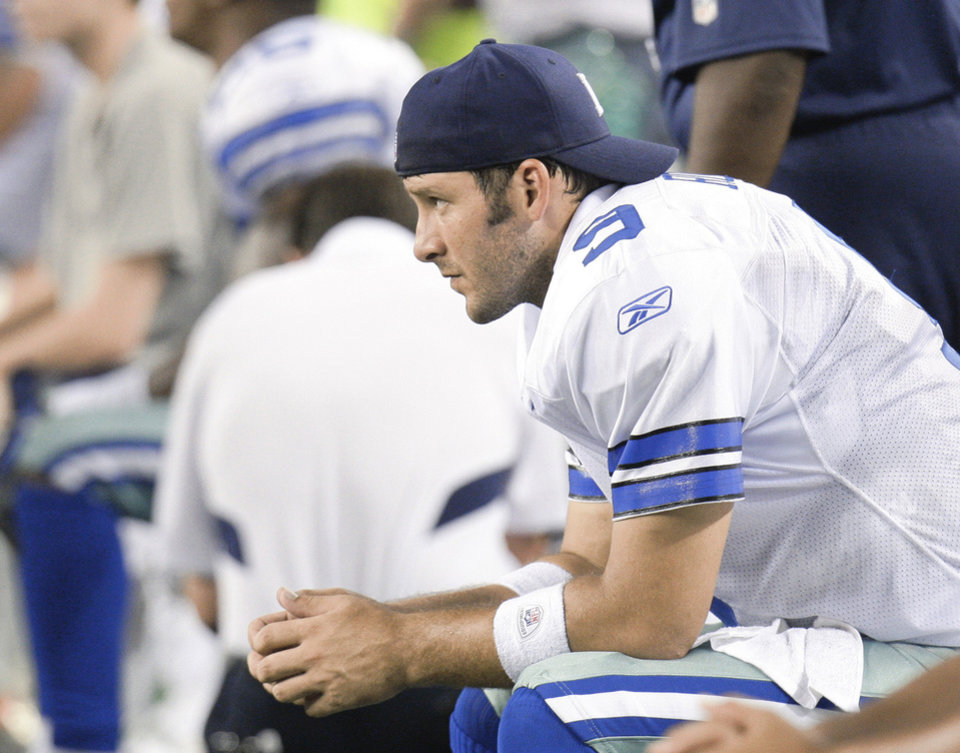 Tony Romo and the Dallas Cowboys are off to a 1-1 start on the season. AP photo