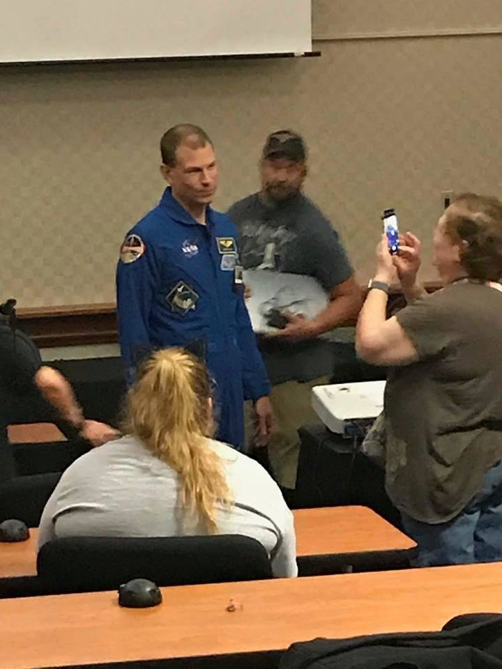 Photo - NASA astronaut Stanley G. Love appears at SoonerCon 27. [photo by Matthew Price, The Oklahoman]