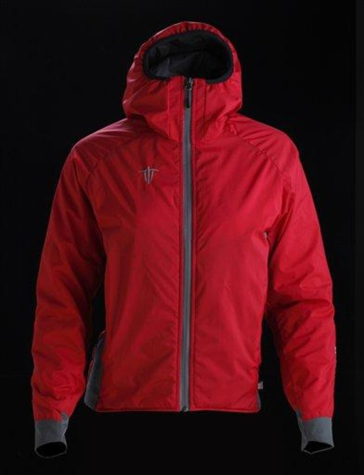This product image released by Wild Things shows a women\'s Insulight jacket, featuring an insulated hood. (AP Photo/Wild Things)