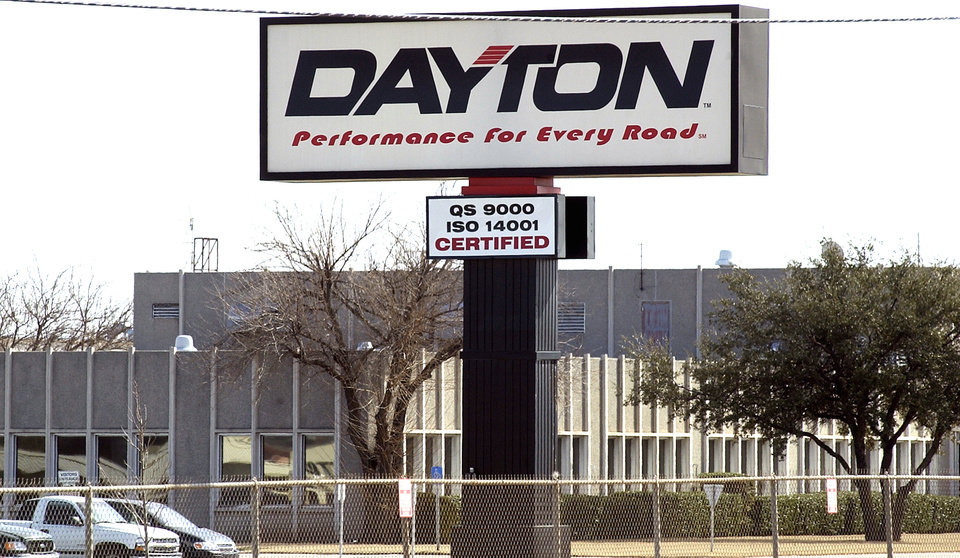 Photo - The Dayton Tire plant building exterior is shown in February 2004. - PHOTO BY PAUL B. SOUTHERLAND, THE OKLAHOMAN