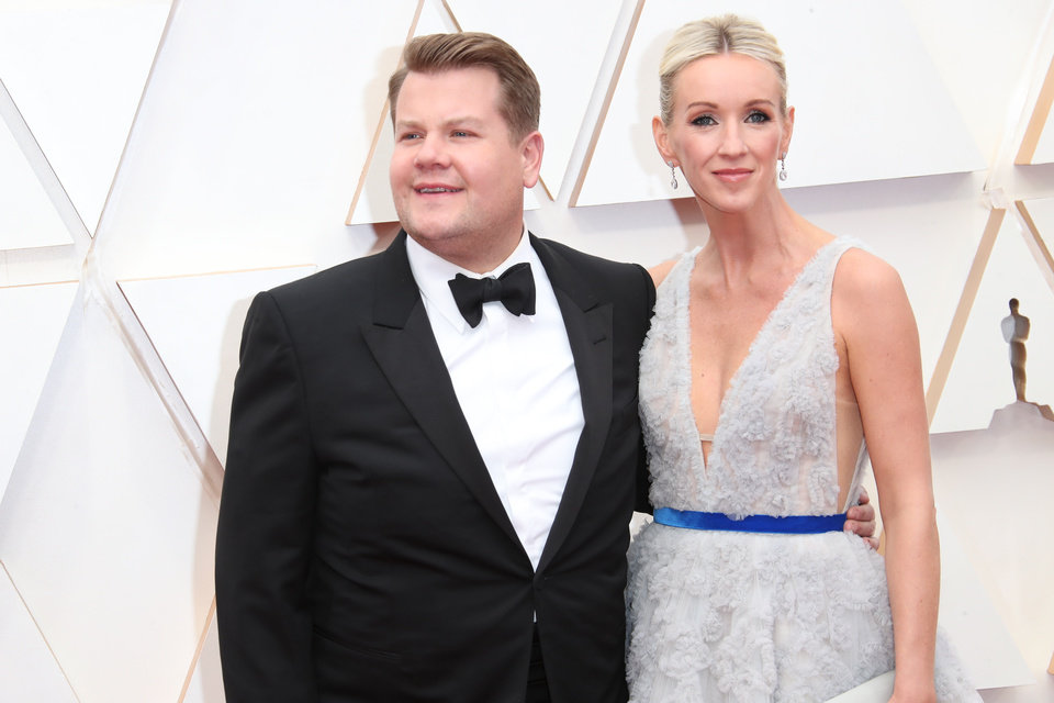 Photo - Feb 9, 2020; Los Angeles, CA, USA;  James Corden, left and Julia Carey arrive at the 92nd Academy Awards at Dolby Theatre. Mandatory Credit: Dan MacMedan-USA TODAY