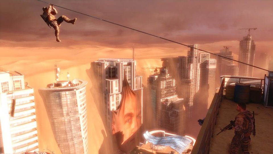 "This video game image released by 2K Games, American commandos explore a ruined Dubai in ""Spec Ops: The Line."" (AP Photo/2K Games)"