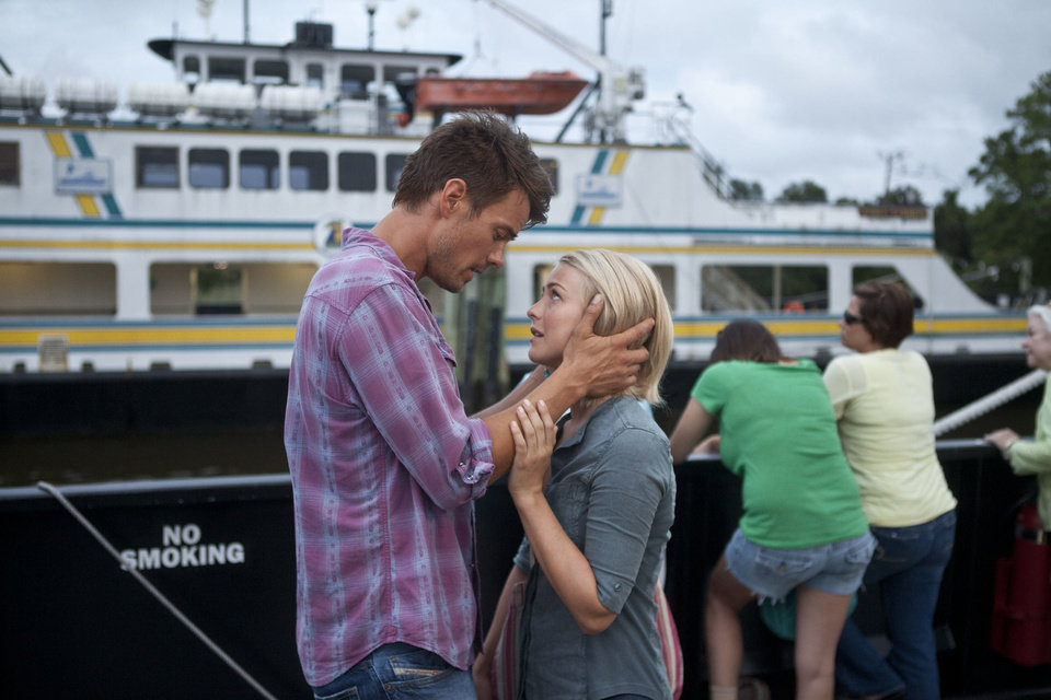 "This film image released by Relativity Media shows Julianne Hough, right, and Josh Duhamel in a scene from ""Safe Haven."" (AP Photo/Relativity Media, James Bridges) ORG XMIT: NYET119"