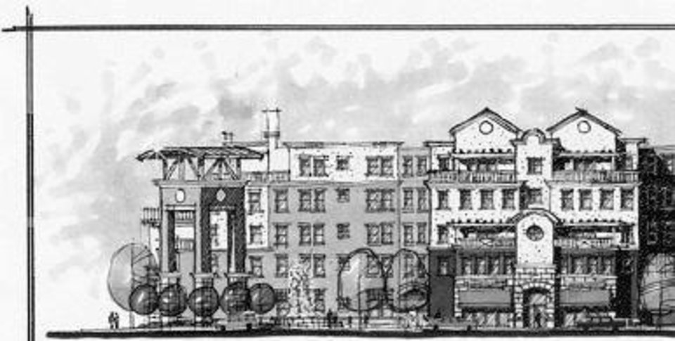 The original Legacy renderings by ADG Inc. before they were value engineered by developer Mike Henderson.