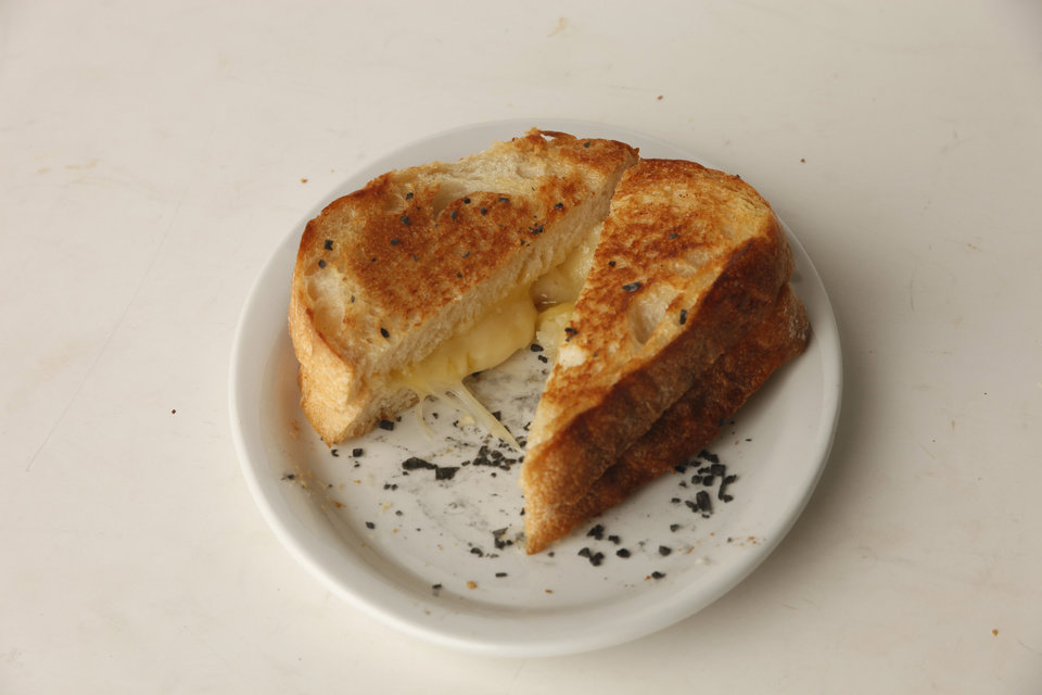 Grilled cheese sandwich for food page in honor of National Grilled Cheese Month at OPUBCO studio, April 20, 2012. Photo by Doug Hoke, The Oklahoman