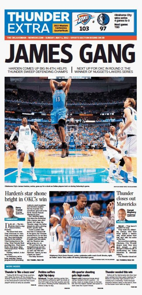Game 4: Thunder-Mavericks, May 6, 2012